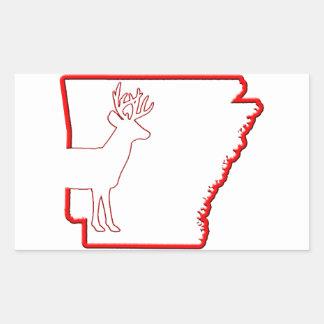 Arkansas Blanco-Ató ciervos Pegatina Rectangular