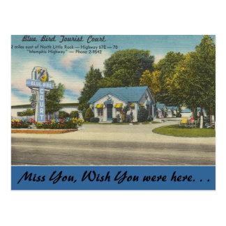 Arkansas, Blue Bird Tourist Court Postcard