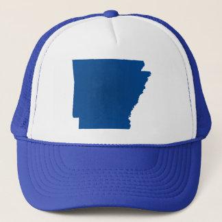 Arkansas Blue State Snap Back Mesh Trucker Hat