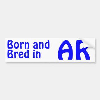 Arkansas Bred (Bumper) Sticker Car Bumper Sticker