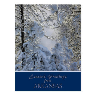Arkansas Christmas Card /state specific post cards