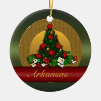 Arkansas Christmas Tree Ornament