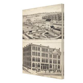 Arkansas City Roller Mill County, Kansas Canvas Print