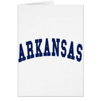Arkansas College Card