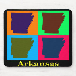 Arkansas Colorful Map Mouse Pad