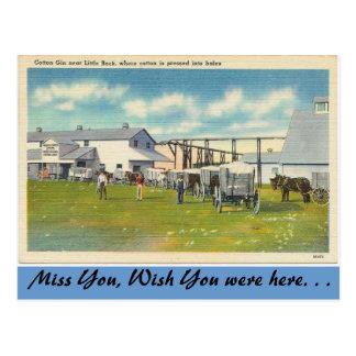 Arkansas, Cotton Gin Postcard