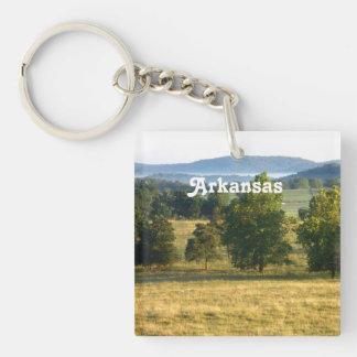 Arkansas Countryside Single-Sided Square Acrylic Keychain
