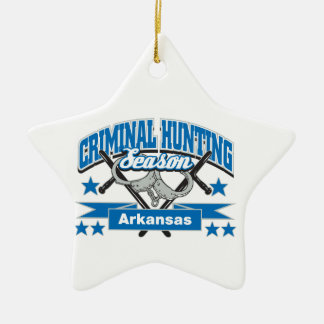Arkansas Criminal Hunting Season Double-Sided Star Ceramic Christmas Ornament