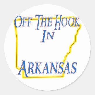 Arkansas - del gancho pegatinas redondas