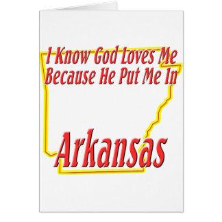 Arkansas - dios me ama tarjetas