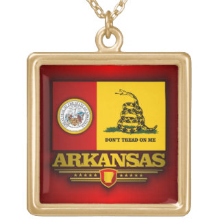 Arkansas (DTOM) Square Pendant Necklace