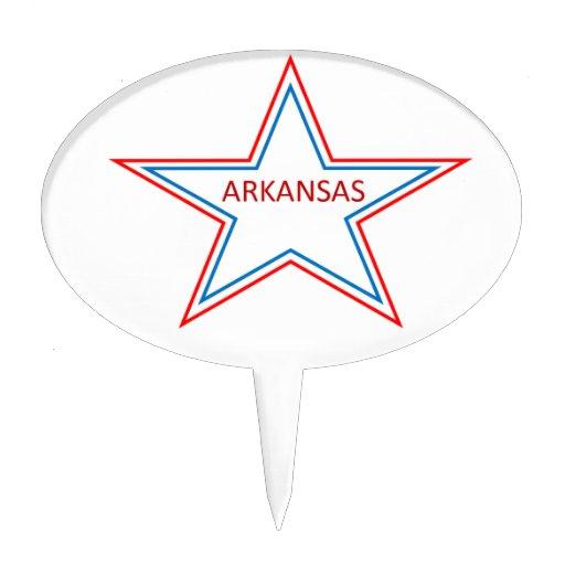 Arkansas en una estrella figuras de tarta