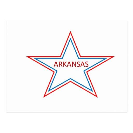 Arkansas en una estrella postal