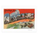 Arkansas (escena) del paisaje - letra grande postal