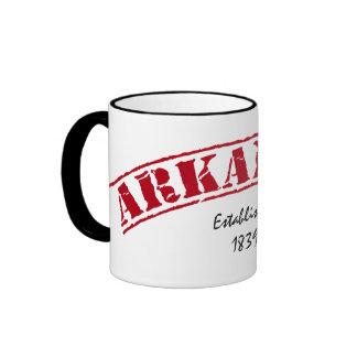 Arkansas Established Ringer Mug