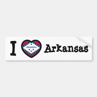 Arkansas Flag Car Bumper Sticker