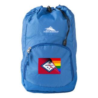 Arkansas Flag Gay Pride Rainbow Flag Backpack