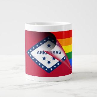 Arkansas Flag Gay Pride Rainbow Giant Coffee Mug
