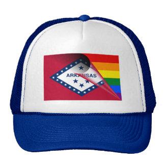 Arkansas Flag Gay Pride Rainbow Trucker Hat