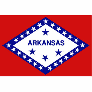 Arkansas Flag Keychain Cut Out