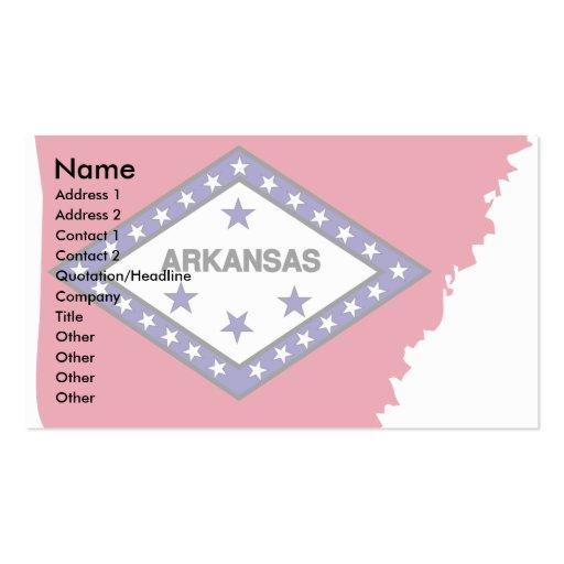 Arkansas Flag Map Business Card