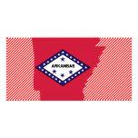 Arkansas Flag Map Customized Photo Card