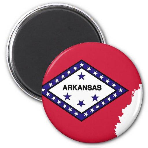 Arkansas Flag Map Magnet