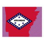 Arkansas Flag Map Postcard