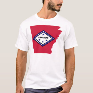Arkansas Flag Map T-Shirt
