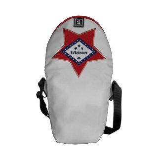 ARKANSAS FLAG MESSENGER BAG