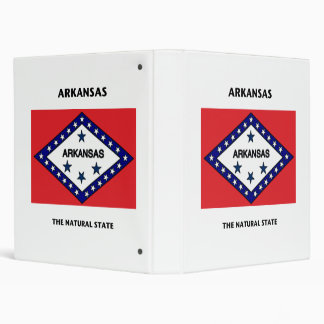 Arkansas Flag Natural State 3 Ring Binder