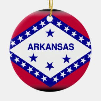 Arkansas Flag Christmas Tree Ornament