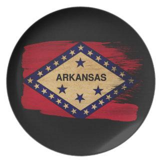 Arkansas Flag Dinner Plate