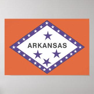 ARKANSAS Flag - Poster