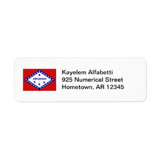 Arkansas Flag Return Address Label