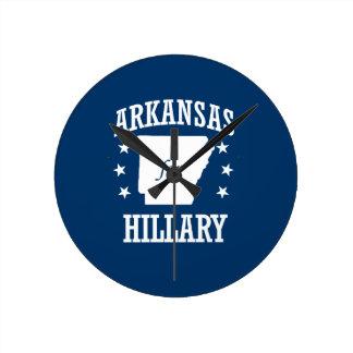 ARKANSAS FOR HILLARY ROUND CLOCKS