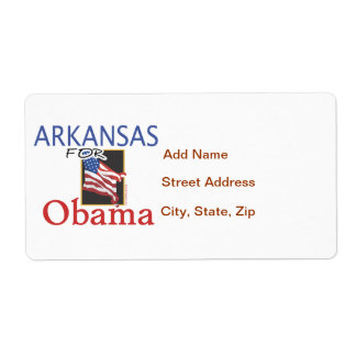 Arkansas for Obama T-shirts and Gifts Shipping Label