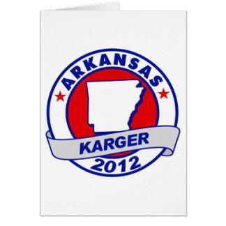 Arkansas Fred Karger Card