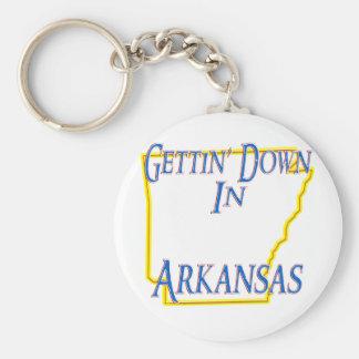 Arkansas - Gettin' Down Basic Round Button Keychain