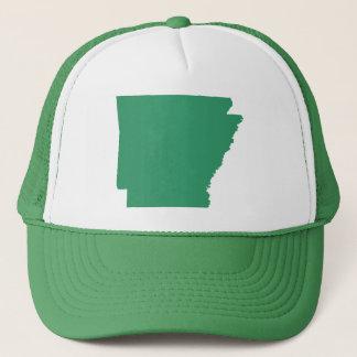 Arkansas Green State Snap Back Mesh Trucker Hat
