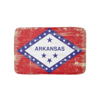 Arkansas grunge Flag Bath Mat