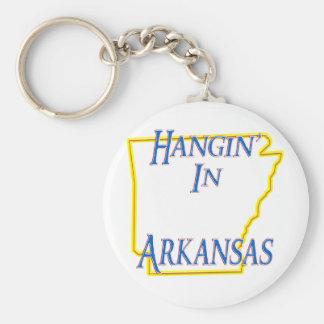 Arkansas - Hangin' Basic Round Button Keychain