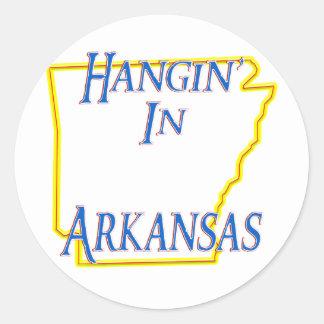 Arkansas - Hangin Pegatina Redonda
