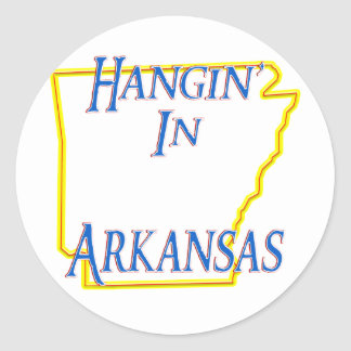 Arkansas - Hangin' Classic Round Sticker