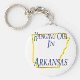 Arkansas - Hanging Out Basic Round Button Keychain