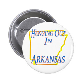 Arkansas - Hanging Out Button