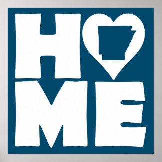Arkansas Home Heart State Poster Sign