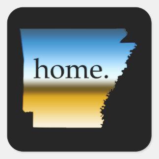 Arkansas Home Horizon Square Sticker