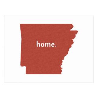 Arkansas Home Red Postcard