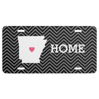 Arkansas Home State Love with Custom Heart License Plate